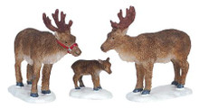 62242 -  Reindeer, Set of 3 - Lemax Christmas Village Figurines