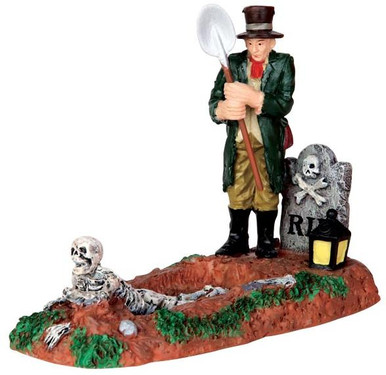 42202 - Grave Digger  - Lemax Spooky Town Halloween Village Figurines