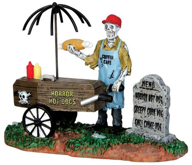 42215 - Ghoul Hot Dog Vendor  - Lemax Spooky Town Halloween Village Figurines
