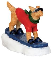 42222 - Snowboarding Dog  - Lemax Christmas Village Figurines