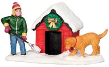 42231 - Digging Out the Doghouse  - Lemax Christmas Village Figurines