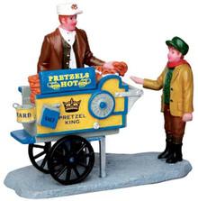 42238 - Pretzel King Pretzel Cart  - Lemax Christmas Village Figurines