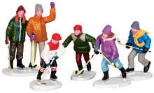 42240 - The Home Team, Set of 5  - Lemax Christmas Village Figurines