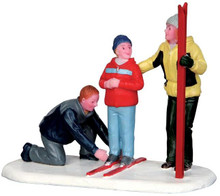 42247 - New Skis  - Lemax Christmas Village Figurines