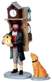 42250 - Clock Seller, Set of 2  - Lemax Christmas Village Figurines
