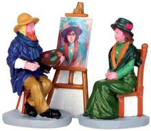 42253 - Plein Air Portrait, Set of 3  - Lemax Christmas Village Figurines