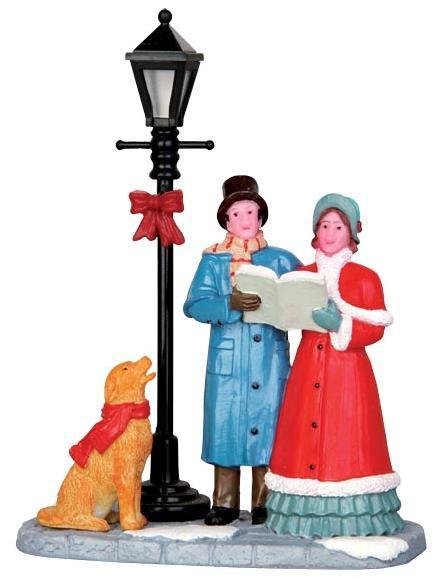 Christmas Carol Singers Figurines.42256 Singing Carols Lemax Christmas Village Figurines