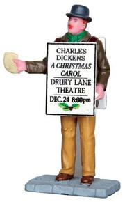 42258 - Sandwich Board Man  - Lemax Christmas Village Figurines