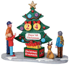 33011 - Countdown Tree, Set of 7  - Lemax Christmas Village Table Pieces