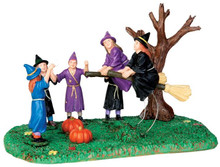 43065 - Broom Race  - Lemax Spooky Town Halloween Village Accessories