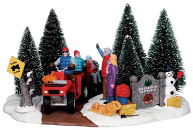 43070 - Here Comes Our Tree  - Lemax Christmas Village Table Pieces