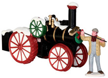 43072 - Snowy Steam Tractor  - Lemax Christmas Village Table Pieces