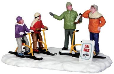 43073 - Ski Bike Rentals  - Lemax Christmas Village Table Pieces