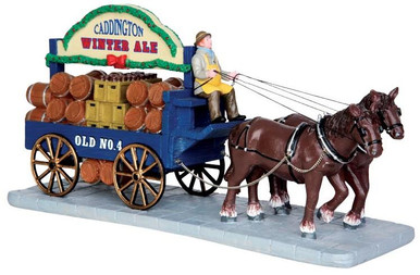43085 - Winter Ale Wagon  - Lemax Christmas Village Table Pieces