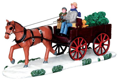 43090 - Bringing Home the Christmas Tree  - Lemax Christmas Village Table Pieces