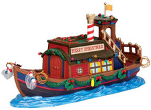 43093 - Canal Houseboat  - Lemax Christmas Village Table Pieces
