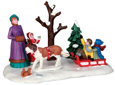 43097 - Sleigh Rides  - Lemax Christmas Village Table Pieces