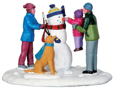 43105 - Her First Snowman  - Lemax Christmas Village Table Pieces