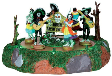 44732 - Day of the Dead Parade, Battery-Operated (4.5-volt)  - Lemax Spooky Town Halloween Village Accessories