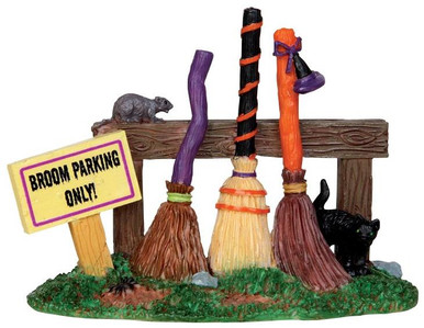 44737 - Broom Parking Rack  - Lemax Spooky Town Halloween Village Accessories
