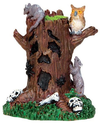 44741 - Spooky Tree Stump  - Lemax Spooky Town Halloween Village Accessories
