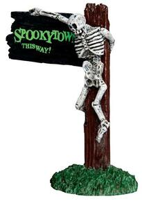 44743 - Spooky Town This Way  - Lemax Spooky Town Halloween Village Accessories