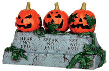 44750 - Evil Pumpkins  - Lemax Spooky Town Halloween Village Accessories