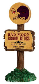 44751 - Bad Moon Broom Rides  - Lemax Spooky Town Halloween Village Accessories