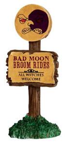 44751 - Bad Moon Broom Rides  - Lemax Spooky Town Halloween Village Accessories