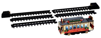 44762 - Christmas Cable Car, Set of 6, Battery-Operated (4.5v) - Lemax Christmas Village Trains & Vehicles