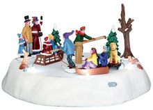 44773 - Victorian Ice Merry Go Round, Battery-Operated (4.5v)  - Lemax Christmas Village Table Pieces