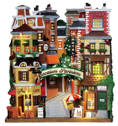 25402 - Parisian Stairs, Battery-Operated (4.5v)  - Lemax Christmas Village Facades