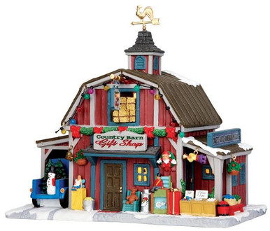 35536 - Country Barn Gift Shop  - Lemax Harvest Crossing Christmas Houses & Buildings