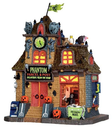45667 - Phantom Parcel & Post  - Lemax Spooky Town Halloween Village Houses & Buildings