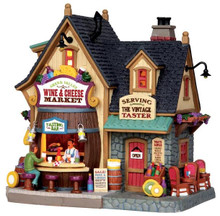 45679 - Green Valley Wine & Cheese Market  - Lemax Harvest Crossing Christmas Houses & Buildings