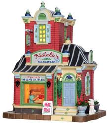 45686 - Natalie's Nail Salon & Spa  - Lemax Caddington Village Christmas Houses & Buildings