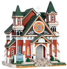 45691 - Darlington Church  - Lemax Caddington Village Christmas Houses & Buildings