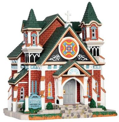 45691 - Darlington Church  - Lemax Caddington Village Christmas Houses & Buildings