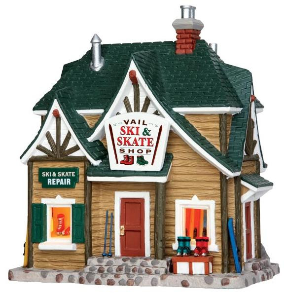 Christmas Houses Village.45692 Vail Ski Skate Shop Lemax Vail Village Christmas Houses Buildings