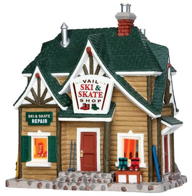 45692 - Vail Ski & Skate Shop  - Lemax Vail Village Christmas Houses & Buildings