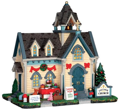 45706 - Village Church  - Lemax Harvest Crossing Christmas Houses & Buildings