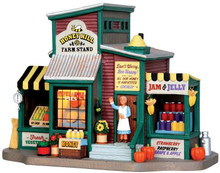 45711 - Honey Hill Farm Stand  - Lemax Harvest Crossing Christmas Houses & Buildings