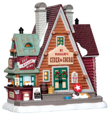 45717 - Mt. Woodland's Cider & Cocoa  - Lemax Vail Village Christmas Houses & Buildings