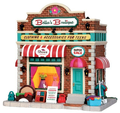 45720 - Bella's Boutique  - Lemax Jukebox Junction Christmas Houses & Buildings