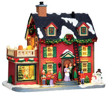 45726 - Decorating the New England Hearth, with 4.5v Adaptor  - Lemax Caddington Village Christmas Houses & Buildings