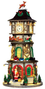 45735 - Christmas Clock Tower, with 4.5v Adaptor  - Lemax Caddington Village Christmas Houses & Buildings