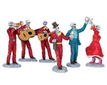 52309 - Fiesta De Los Muertos, Set of 6 - Lemax Spooky Town Figurines