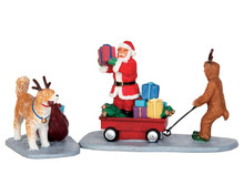 52326 - Playing Santa, Set of 2 - Lemax Christmas Figurines