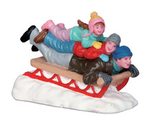52329 - Sledding with Dad - Lemax Christmas Figurines
