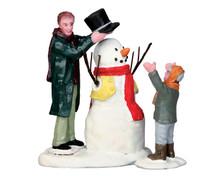 52352 - Sharp-Dressed Snowman, Set of 2 - Lemax Christmas Figurines